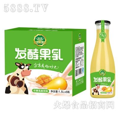 粒汁健发酵果乳芒果乳味饮料1.5LX6瓶