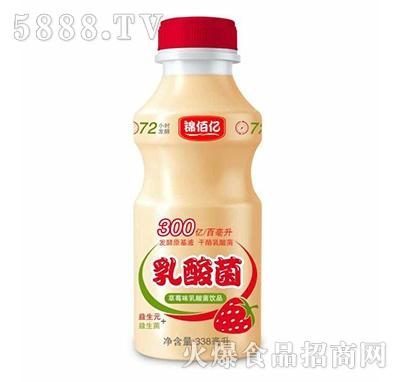 锦佰亿乳酸菌饮品草莓味338ml