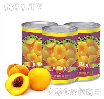砀联糖水黄桃罐头罐装