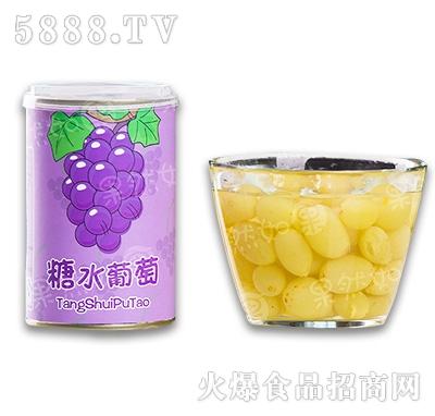 砀联糖水葡萄罐头罐装