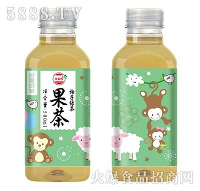 友利友柚子绿茶350ml
