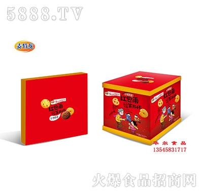 麦特龙1280克红包雨喜庆年货礼盒饼