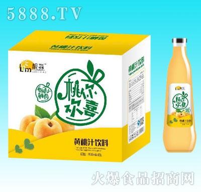 靓淼黄桃汁饮料838mlX8