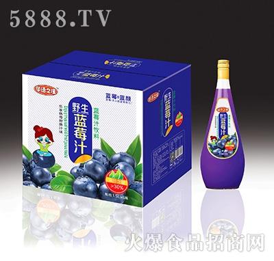 华语之佳野生蓝莓汁饮料1.5Lx6瓶