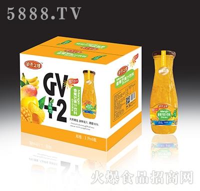 华语之佳香蕉芒果汁饮料GV+2(果肉型)1Lx6瓶
