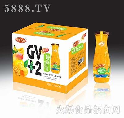 华语之佳香蕉芒果汁饮料(果肉型)1.5Lx6瓶