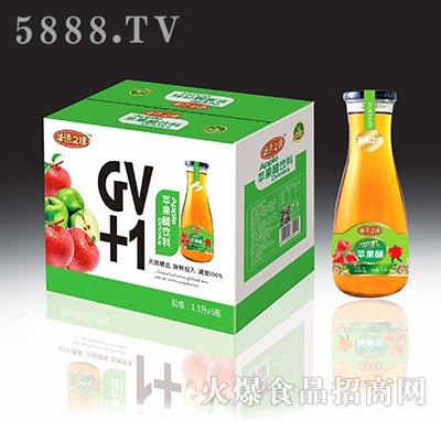 华语之佳苹果醋饮料(果肉型)1.5Lx6瓶