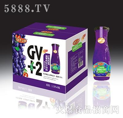 华语之佳蓝莓枸杞汁饮料GV+2(果肉型)1.5Lx6瓶