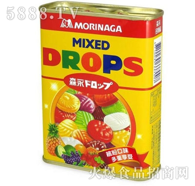 森永多乐福水果糖(黄罐)180g