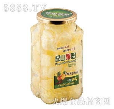 绿山果园冰糖菠萝罐头860g