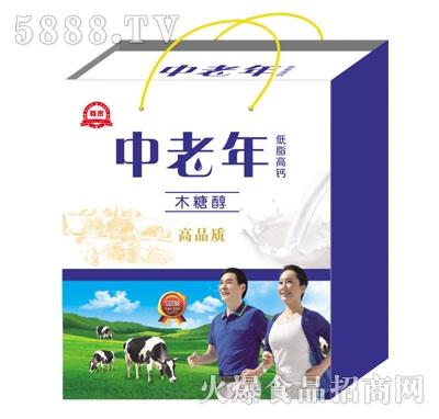 中老年低脂高钙牛奶