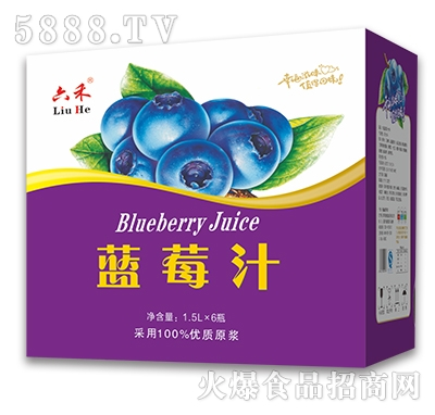 六禾蓝莓汁1.5Lx6瓶