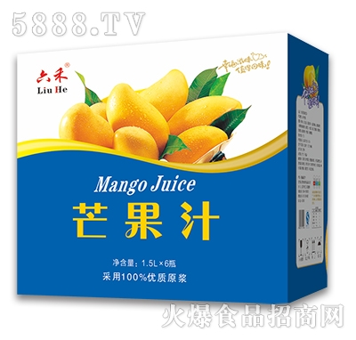 六禾芒果汁1.5Lx6瓶