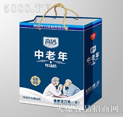 鹤美中老年高钙牧场奶低脂低糖手提袋