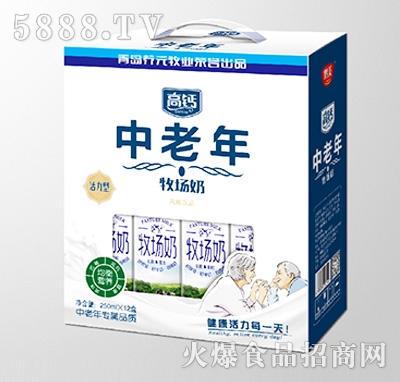鹤美中老年高钙牧场奶250mlx12盒