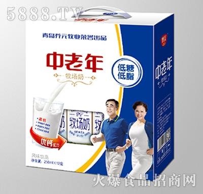 鹤美中老年低脂低糖牧场奶礼盒