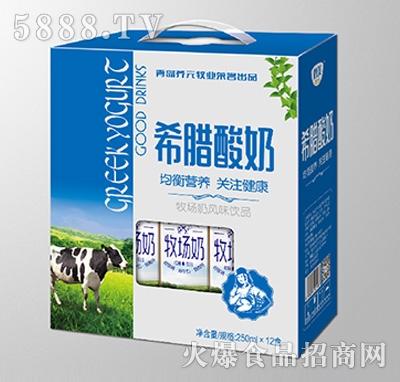 鹤美希腊酸奶250mlx12盒