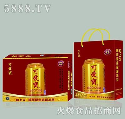 可爱宝凉茶植物饮料金罐
