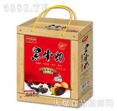 (1x12盒)养参堂黑牛奶木纹礼盒