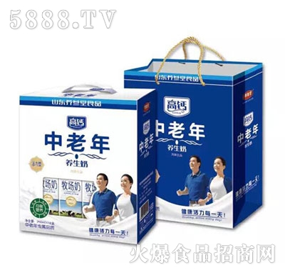 250mlx12盒养参堂中老年高钙养生奶礼盒