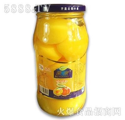 蒙康糖水桃罐头1kg