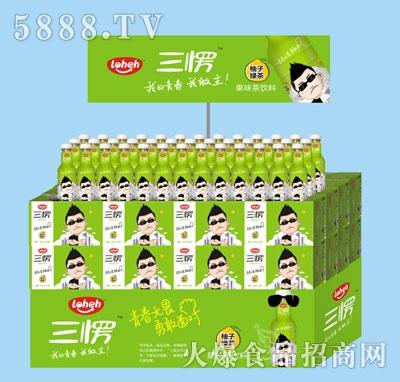 三愣柚子绿茶果味饮料(宣传)