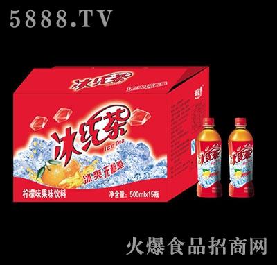 冰红茶柠檬味果味饮料500mlx15瓶