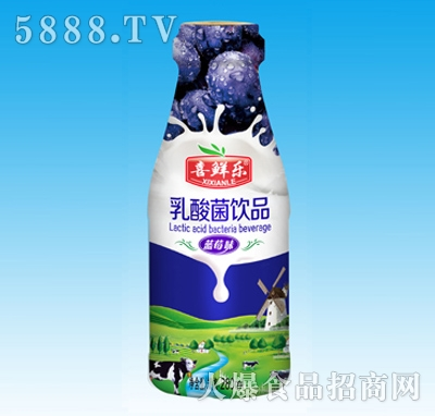 蓝莓奶、乳酸奶、乳酸菌饮品蓝莓味280ml