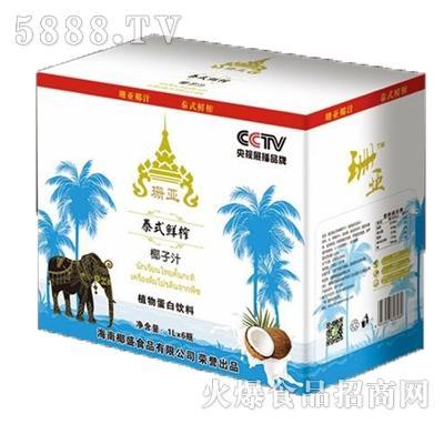 珊亚泰式鲜榨椰子汁1Lx6瓶