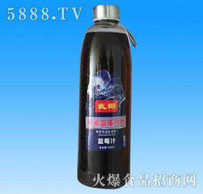武椰蓝莓汁990ml