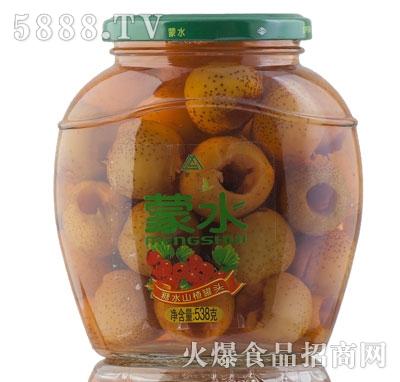 蒙水糖水山楂罐头538g