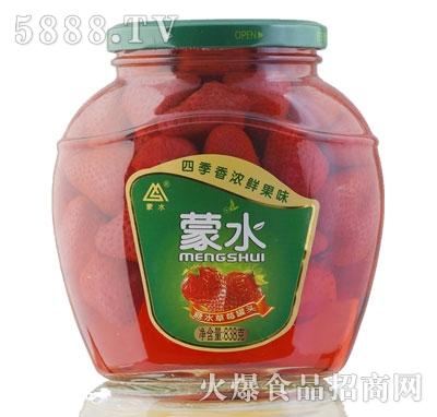 蒙水糖水草莓罐头838g