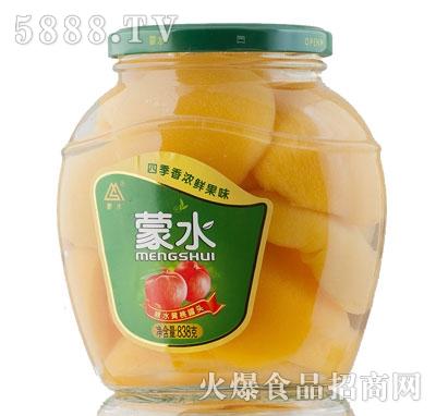 蒙水糖水黄桃罐头838g