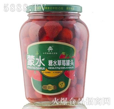 蒙水糖水草莓罐头880g
