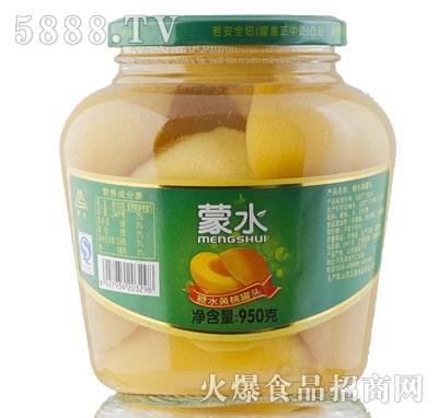 蒙水糖水黄桃罐头950g