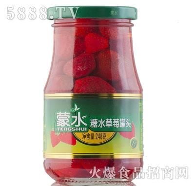 蒙水糖水草莓罐头248克