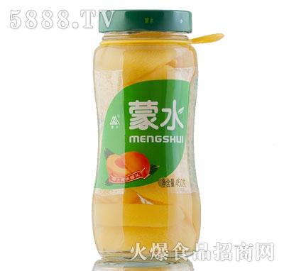 蒙水糖水黄桃罐头450克
