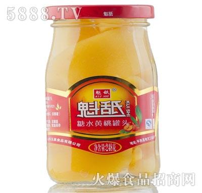 魁舐糖水黄桃罐头248g