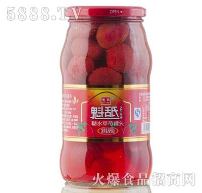 魁舐糖水草莓罐头820g
