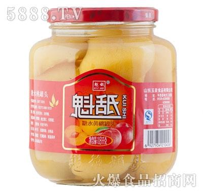 魁舐糖水黄桃罐头1.8kg