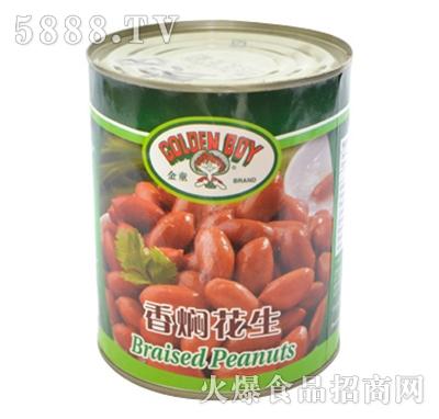 海山香焖花生罐头产品图