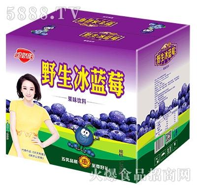 金娇阳野生冰蓝莓果味饮料箱子1.5Lx6瓶