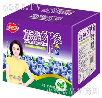 金娇阳蓝莓印象果味饮料箱子1.5Lx6瓶