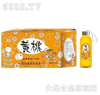 发酵黄桃汁饮料410mlx15