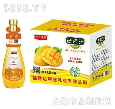 十八果坊芒果汁饮料1.5Lx6瓶