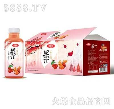 百事利果π山楂汁饮料500mlx15瓶