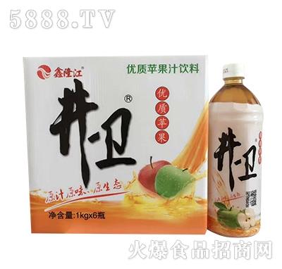 鑫隆江井卫苹果汁1kgx6瓶
