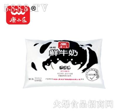 康小乐鲜牛奶袋装243毫升产品图