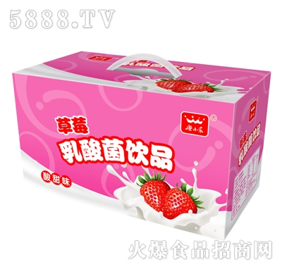 康小乐草莓乳酸菌饮品16杯彩箱