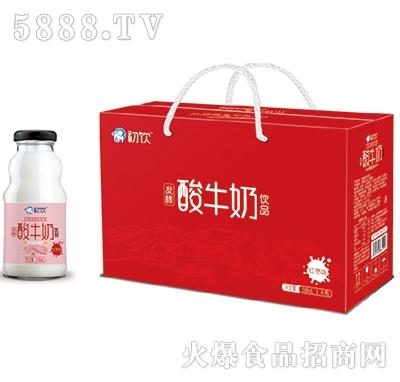 初饮酸牛奶饮品红枣味248mlx8瓶